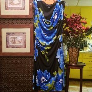 Ronni Nicole Blue Floral Dress, Size 12